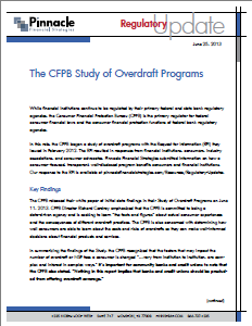 Regulatory Update - CFPB Study Key Findings